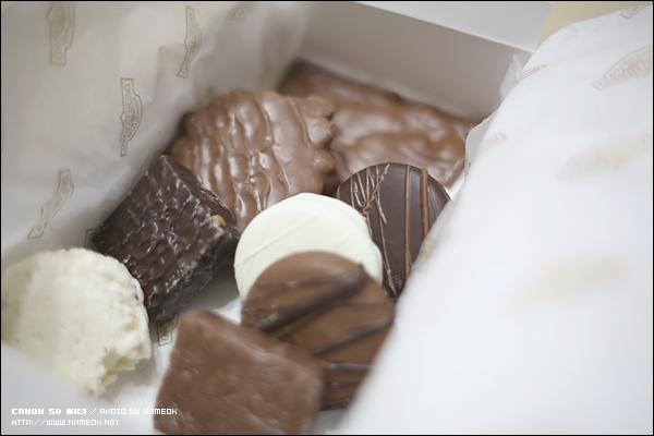 마카다미아, 캬라멜, 오레오쿠키, 코코넛 쵸콜렛 들-